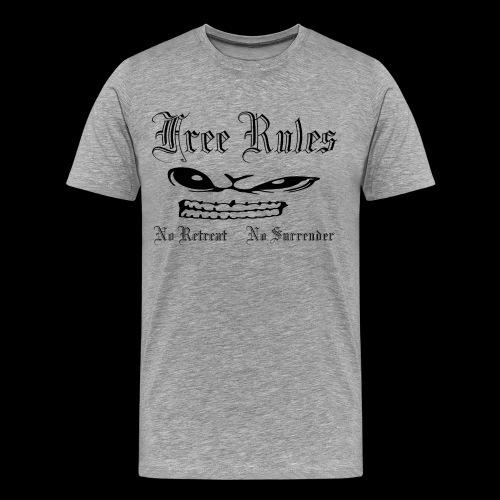 free rules no 01 blanc - T-shirt Premium Homme