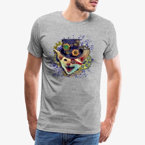 Steampunk Katze - Männer Premium T-Shirt