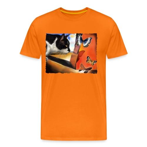 Il gatto di Dalí - Maglietta Premium da uomo