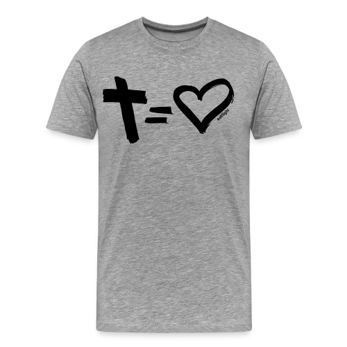 Cross = Heart BLACK // Cross = Love BLACK - Men's Premium T-Shirt