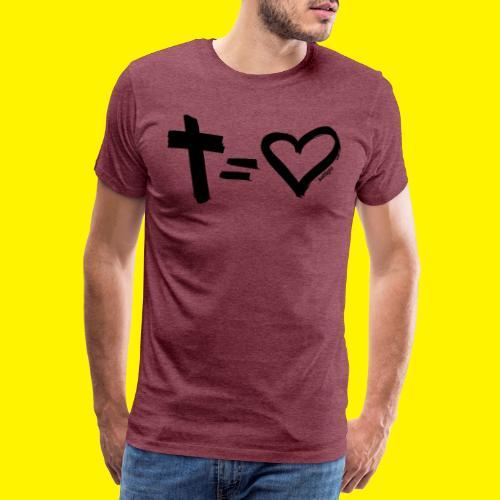 Cross = Heart BLACK - Men's Premium T-Shirt