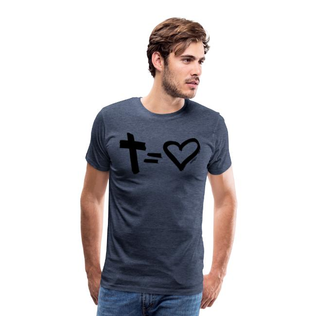 Cross = Heart BLACK // Cross = Love BLACK