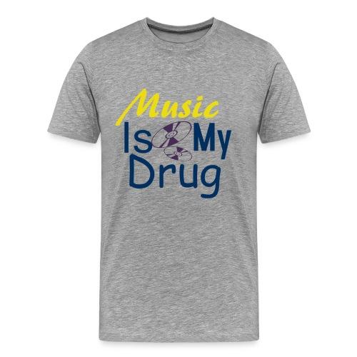 Music is my drug DIZ - Premium T-skjorte for menn