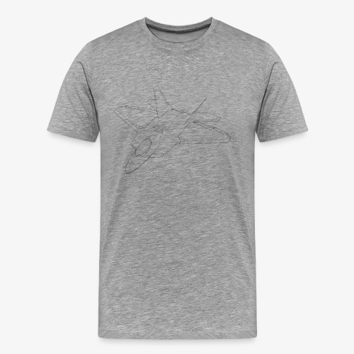F 22 Raptor LineArt - Männer Premium T-Shirt