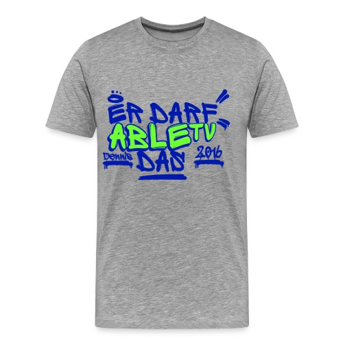AbleTV Grafitti Logo Marken Shirt (Er Darf Das) - Männer Premium T-Shirt
