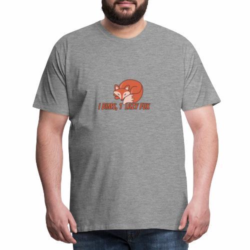 Fux | Fuchs | Schlaufuchs | Faul | Vong - Männer Premium T-Shirt