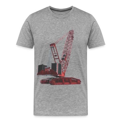 Crawler Crane 750t - Red - Men's Premium T-Shirt