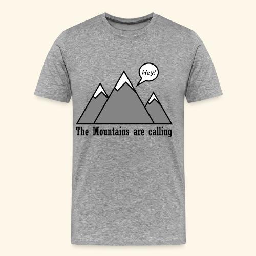 mountains calling - Männer Premium T-Shirt