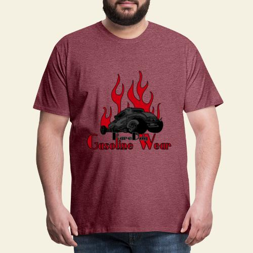2 Window Hotrod with Flames - Herre premium T-shirt