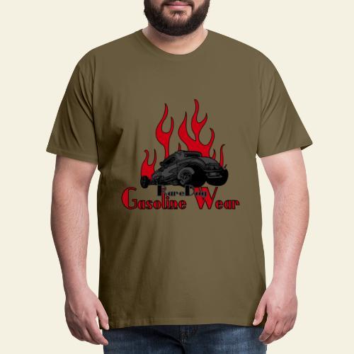 2 Window Hotrod with Flames - Herre premium T-shirt