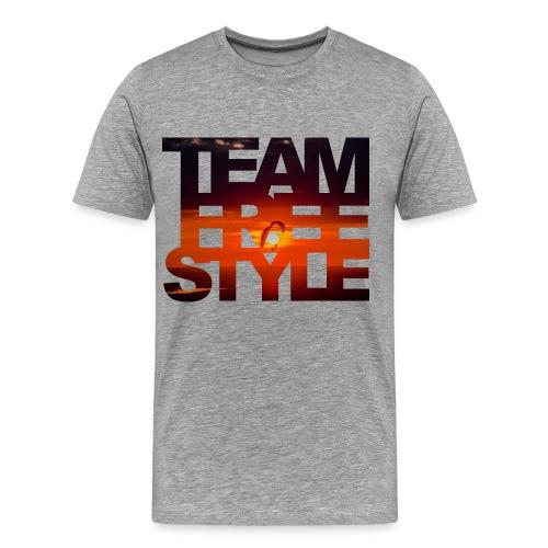SunsetSidebySide_kl_blur - Männer Premium T-Shirt