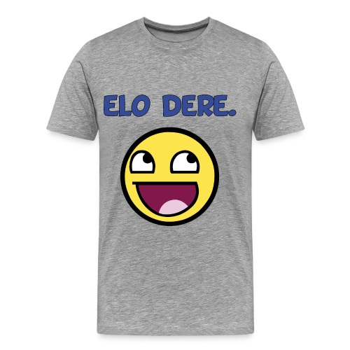 DERE lolface finish black fixed gif - Men's Premium T-Shirt