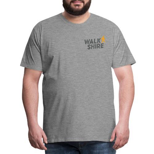 Walkshire logo orange person - Men's Premium T-Shirt