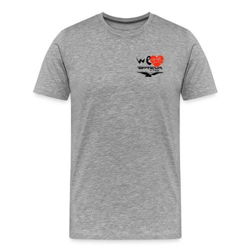 welovebrevalogoxpblackred - Maglietta Premium da uomo