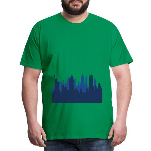 Manhattan Skyline - T-shirt Premium Homme