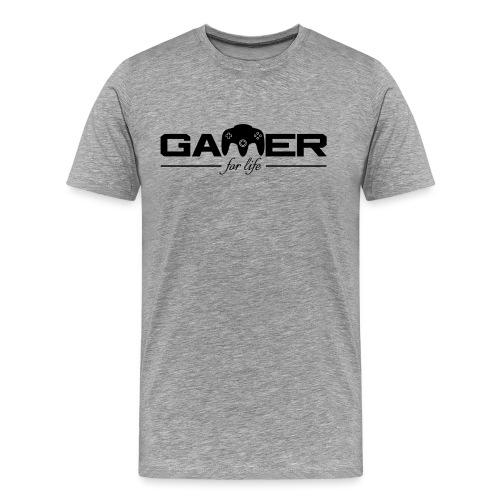 Gamer For Life Black by JuiceMan Benji - Men's Premium T-Shirt
