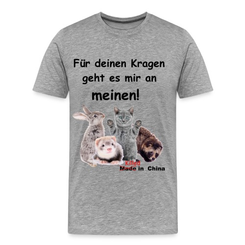 No Fur - kein Pelz! - Männer Premium T-Shirt