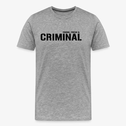 Y F CRIMINAL Logo Black - Männer Premium T-Shirt