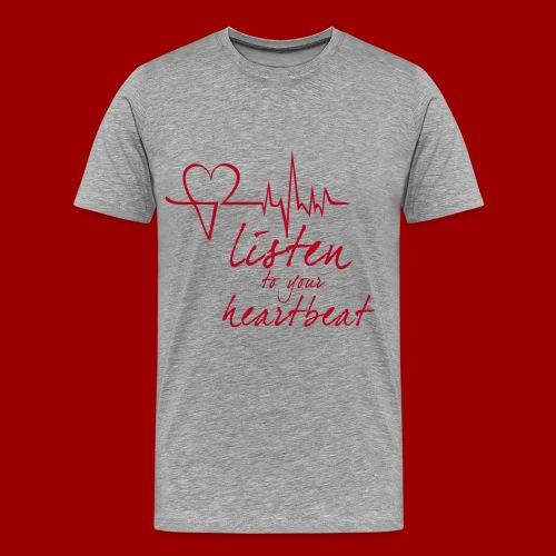 Heartleader_T-Shirt_Font - Männer Premium T-Shirt