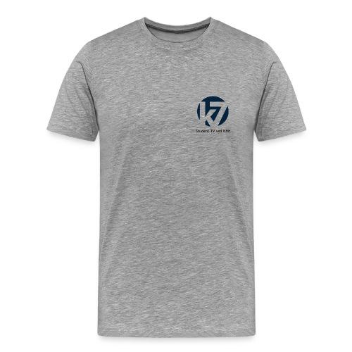 studenttv sort font gif - Premium T-skjorte for menn