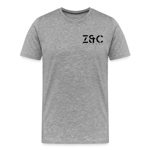 logo Z C PAYSAGE noir png - T-shirt Premium Homme