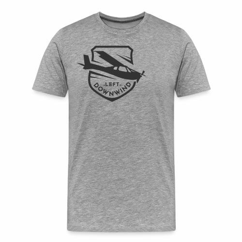 Left Downwind Badge Dark - Men's Premium T-Shirt