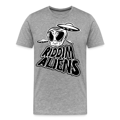 Riddim Aliens (Black Design) - Men's Premium T-Shirt