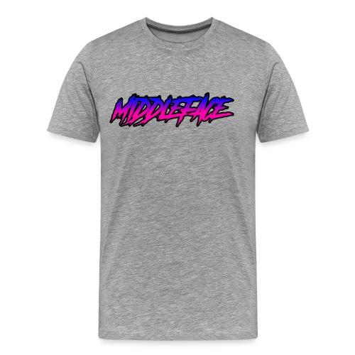 Middleface Logo - Blue and Pink - Men's Premium T-Shirt