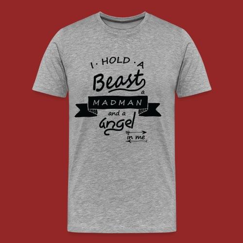 Beast angel madman - T-shirt Premium Homme