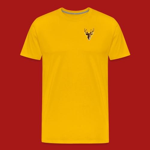 Deer-Head GOLD - Herre premium T-shirt