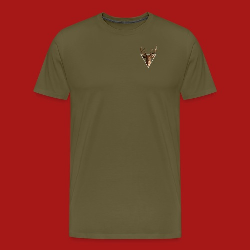 Deer-Head GOLD - Herre premium T-shirt