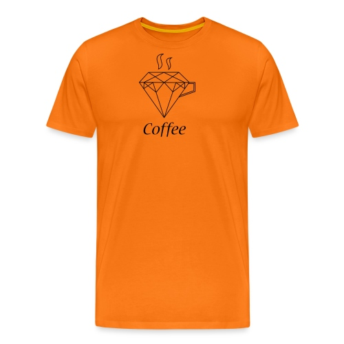 Coffee Diamant - Männer Premium T-Shirt