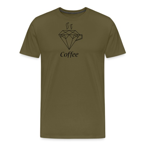 Coffee Diamant - Männer Premium T-Shirt