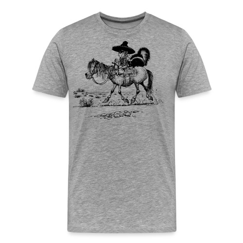 Thelwell 'Cowboy with a skunk' - Men's Premium T-Shirt