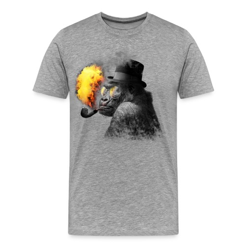 Rauchender Affe - Männer Premium T-Shirt