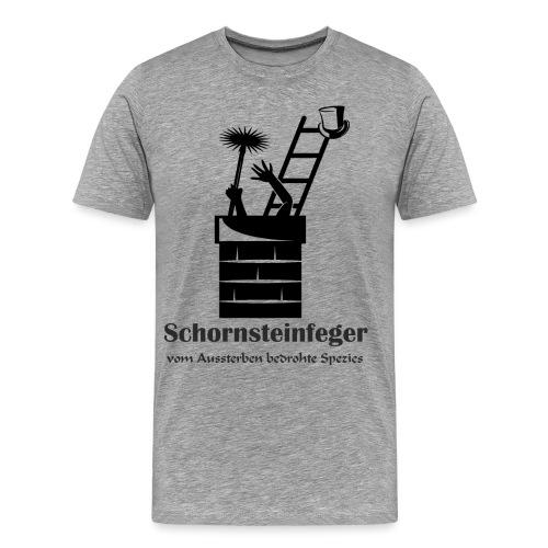 Schornsteinfeger im Kamin - Männer Premium T-Shirt