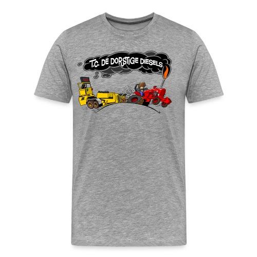 tc de dorstige diesels ACHTERKANT - Mannen Premium T-shirt