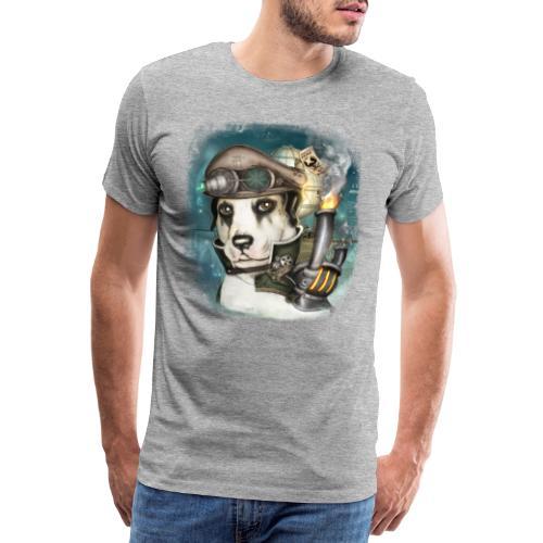 Steampunk Dog #2b - Maglietta Premium da uomo