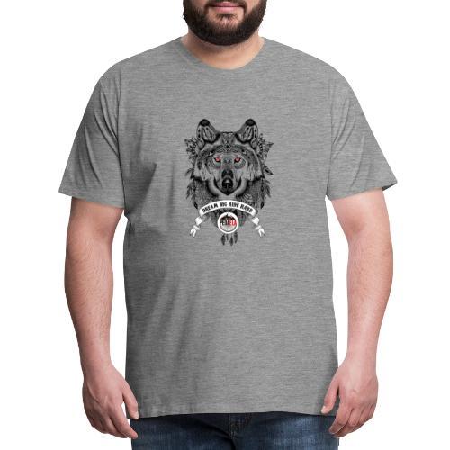 WOLF-PEDAELA - Camiseta premium hombre