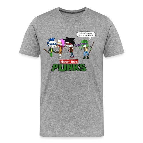 Nerdy Riot Punks - Männer Premium T-Shirt