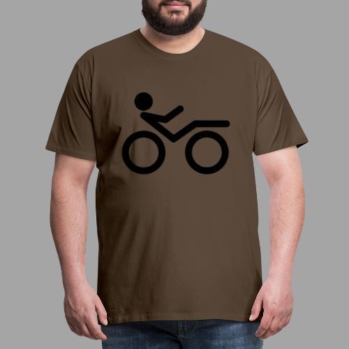 Recumbent bike black 2 - Miesten premium t-paita