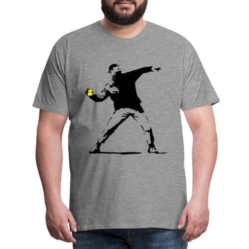 TENNISBALL BOMBER - Maglietta Premium da uomo