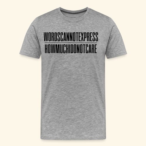 WORDSCANNOTEXPRESS lijn - Men's Premium T-Shirt