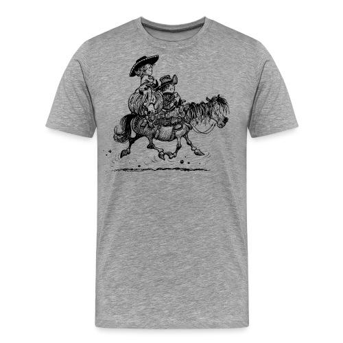 Thelwell Two Cowboys Reiten - Männer Premium T-Shirt