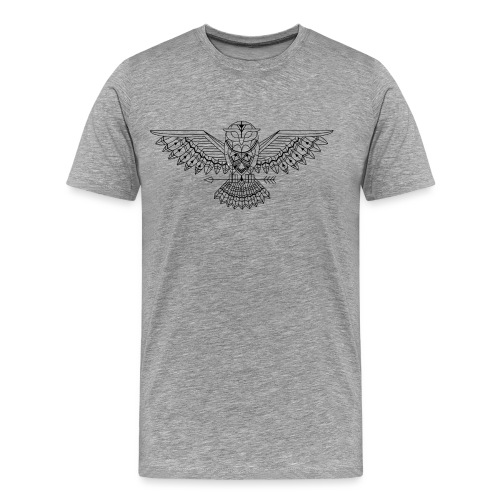 Grafische uil - Mannen Premium T-shirt