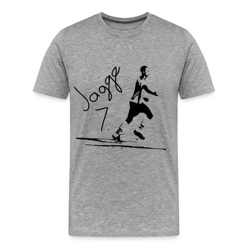 Jaggetröja - Premium-T-shirt herr