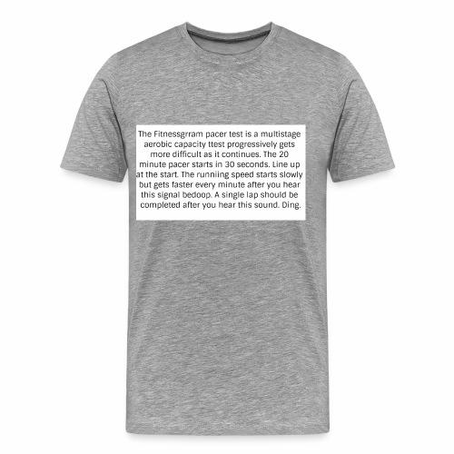 FitnessGram pacer Test - Men's Premium T-Shirt