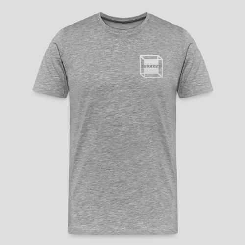 Squared Apparel Logo White / Gray - Men's Premium T-Shirt