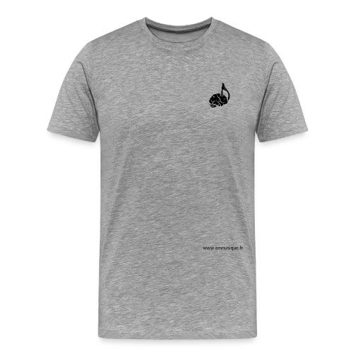 logo_amnu2-02 - T-shirt Premium Homme