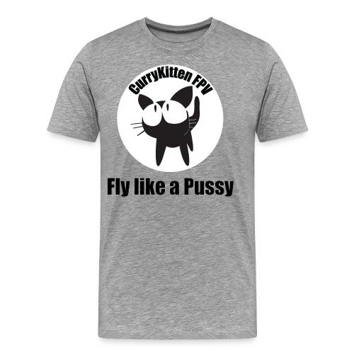 CurryKitten Logo - Fly like a Pussy - Men's Premium T-Shirt